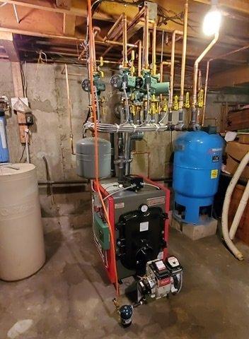 Oil burner installation